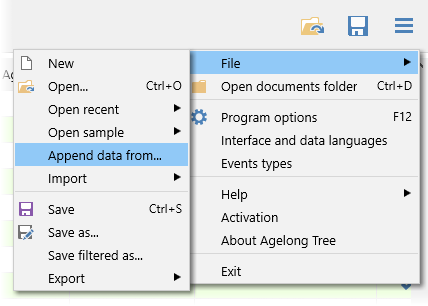 append data from another *.at5 file